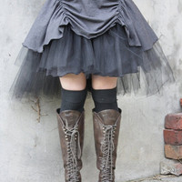 Rainy day... tutu in storm grey with teired tulle. Custom made for you in your choice of colours.