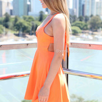 WHAT ABOUT ME DRESS , DRESSES, TOPS, BOTTOMS, JACKETS & JUMPERS, ACCESSORIES, SALE, PRE ORDER, NEW ARRIVALS, PLAYSUIT, COLOUR, GIFT VOUCHER,,Orange,BACKLESS,SLEEVELESS Australia, Queensland, Brisbane