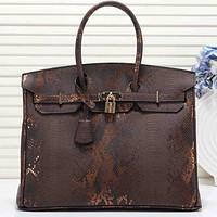 Hermes Women Fashion Leather Handbag Shoulder Bag Satchel