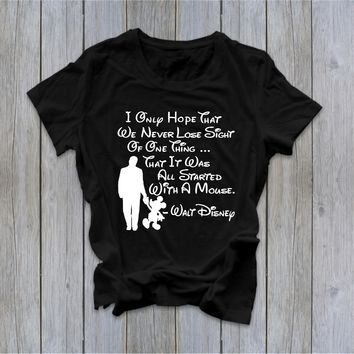 It All Started with a Mouse - Walt Disney - Ruffles with Love - Tee