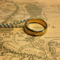 18k Gold Lord Of The Rings The One Ring - Lord Of The Rings Jewelry - Lord of the Rings Ring Hobbit