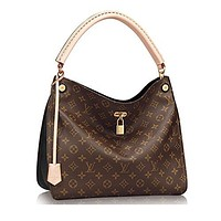 Authentic Louis Vuitton Monogram Gaia Shoulder Handbag Article:M41621 Noir Made in France