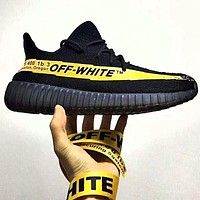 ADIDAS x Off White Yeezy Boost 350 V2 Fashion New Women Men Fashion Sport Sneakers Shoes Black