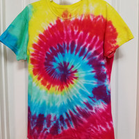 Colorful Custom Tie-Dyed T-Shirt