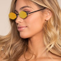 Zoa Sunglasses - Gold Mirrored