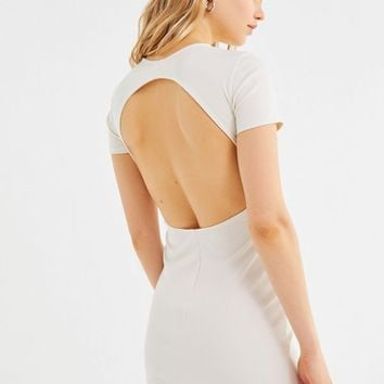 UO Aly Ribbed Open-Back Mini Dress | Urban Outfitters
