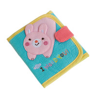 I Need You Embroidered Applique Fabric Art Trifold Wallet Purse / Card Holder in 4.7*4.3