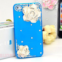 iphone 4 case iphone 4 cover - iphone 4s case - iphone4 case -bling nice camellia  3D  iphone 4 4s case hard case iphone4 4s cover