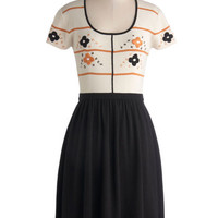 ModCloth Mid-length Short Sleeves A-line Everywhere You Look Dress