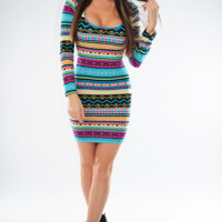 Star Of The Show Dress: Multi