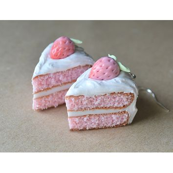 Strawberry Layer Cake Dangle Earrings