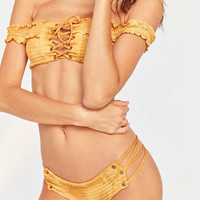 Blue Life Scrunched Up Hipster Bikini Bottom | Urban Outfitters