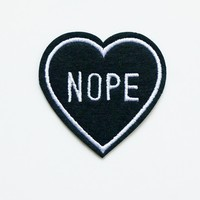 Nope Embroidery Iron On / Sew Patch