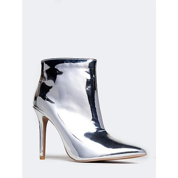 Metallic Ankle Bootie