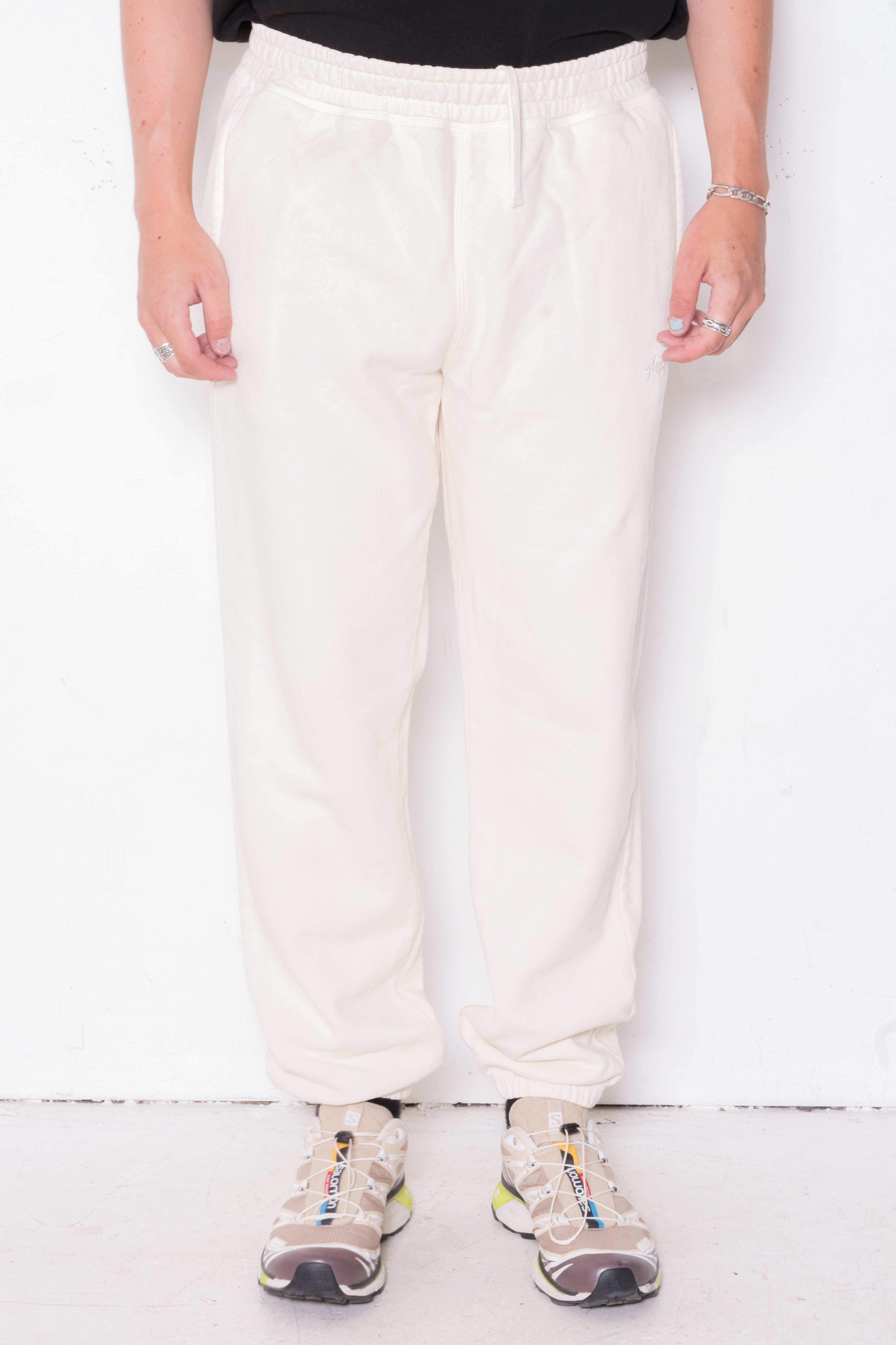 Image of Stussy Stock Logo Pant In Oatmeal