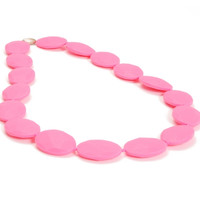 Chewbeads Hudson Teething Necklace - Punchy Pink
