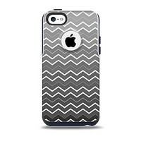 The Black Gradient Layered Chevron Skin for the iPhone 5c OtterBox Commuter Case