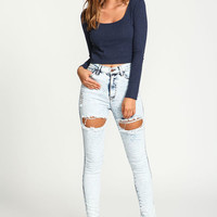 LIGHT ACID HIGH WAIST SKINNY JEANS
