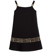 Girls Fancy Dark Gold-Studded Dress