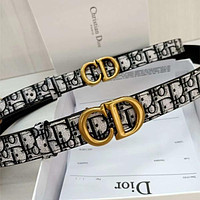 DIOR CD Oblique leather belt