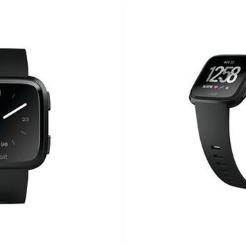 Fitbit Versa Smartwatch - Black Aluminum Case and Black Classic Band by Fitbit   Fitness Trackers Gifts   chapters.indigo.ca