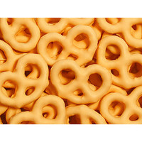 Orange Yogurt Covered Mini Pretzels: 1LB Bag