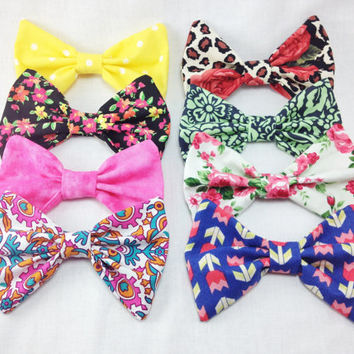 Set of Four Spring Hair Bows- Choose Any Four Bows from the collection