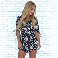 Pink Midnight Bloom Romper