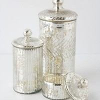 Monarch Mercury Jar by Anthropologie in Silver Size: