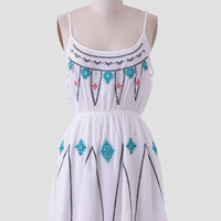 Rolling Tides Embroidered Dress