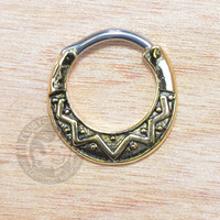 Gold Sunbeam Steel Septum Clicker