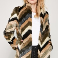Amuse Society Waylon Faux Fur Jacket