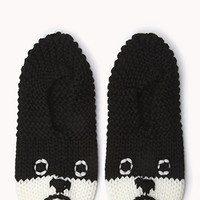 Cozy Knit Puppy Slippers