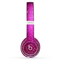 The Abstract Pink Neon Rain Curtain Skin Set for the Beats by Dre Solo 2 Wireless Headphones