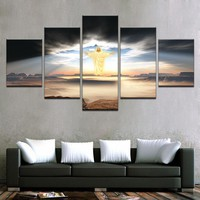 5 Panel Jesus Is Coming Religion Wall Art Panel Print Picture Framed UNframed