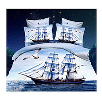 3D Queen King Size Bed Quilt/Duvet Sheet Cover Cotton reactive printing 4pcs 1.8M bed 12