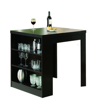 """Cappuccino Hollow-Core 32""""X 36"""" Counter Height Table"""