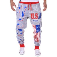 Men's USA  Long Pants