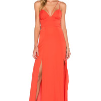 STYLESTALKER Silencio Maxi Dress in Sunset