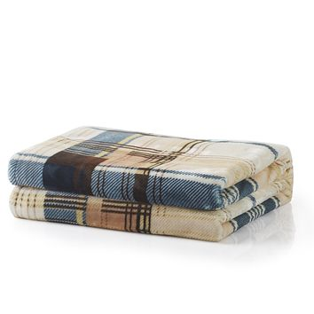 Tache Super Soft Winter Cabin Flannel Throw Blanket