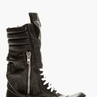 Rick Owens Black Ultra High-top Pocketed Sneakers