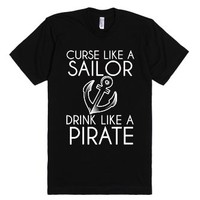Curse Like A Sailor-Unisex Black T-Shirt