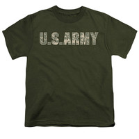 ARMY/CAMO - S/S YOUTH 18/1 - MILITARY GREEN -