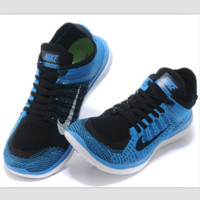 NIKE knitting flying line casual sports shoes Sapphire blue black