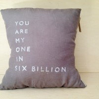 You Are My One Pillow (More Colors) | BRIKA - A Well-Crafted Life