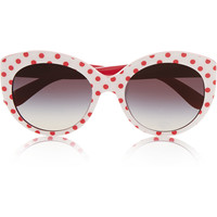 Dolce & Gabbana - Cat eye polka-dot acetate sunglasses