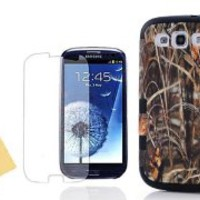 Nccypo 3in1 Hybrid High Impact Yellow Grass Hard Out Shell + Black Silicone Case Cover For Samsung Galaxy S3 i9300,With Screen Protector, Stylus and Cleaning Cloth
