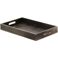 Large Mango Wood Serving Tray for Tea Coffee Party, Bed Breakfast Dinner