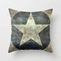 US Air force Roundel insignia Throw Pillow by Bruce Stanfield