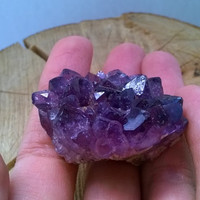 Druzy Amethyst geode with multiple points and highly crystallized, AAA